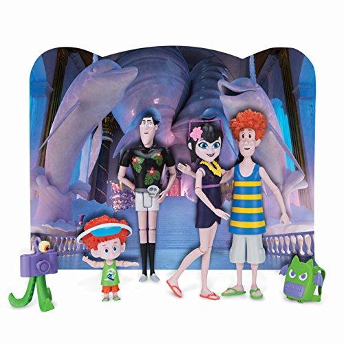 4er Figurenset mit vollbeweglichen 10 cm Figuren, enthält Mavis, Drac, Johnny, Dennis und viele tolle Accessoires – Hotel Transsilvanien Unheimliche Reise 98040