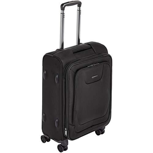 AmazonBasics – Premium-Weichschalen-Trolley mit TSA-Schloss, erweiterbar, 53 cm, Schwarz