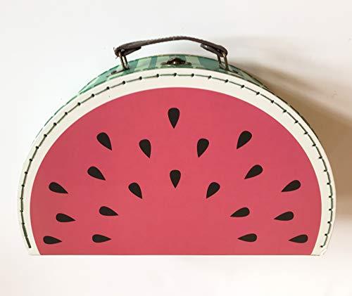 Sass and Belle Koffer Melone Wassermelone: Kinderkoffer/Puppenkoffer / Aufbewahrungsbox. Pappkoffer, 2 Verschiedene Größen Groß Large