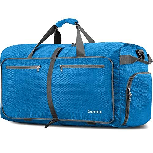 Gonex Leichter Faltbare Reise-Gepäck 150L, Farbe: Himmelblau, Duffel Taschen Uebernachtung Taschen/Sporttasche für Reisen Sport Gym Urlaub