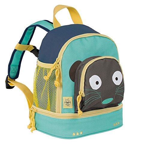 LÄSSIG Kinderrucksack Kindergartentasche mit Brustgurt/Mini Backpack Wildlife Meerkat