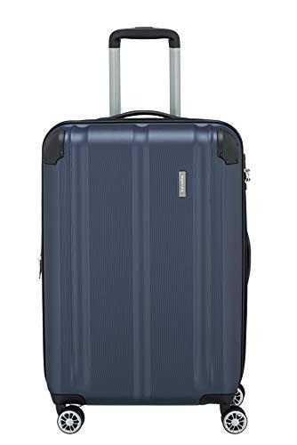 """Travelite Leicht, flexibel, sicher: """"City""""-Hartschalenkoffer für Urlaub und Business auch mit Vortasche Koffer, 68 cm, 78 Liter, Marine"""