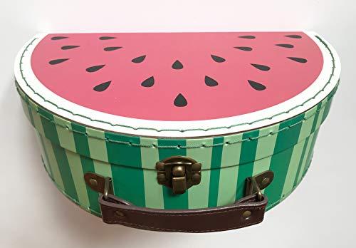 Sass and Belle Koffer Melone Wassermelone: Kinderkoffer/Puppenkoffer / Aufbewahrungsbox. Pappkoffer, 2 Verschiedene Größen Klein Small