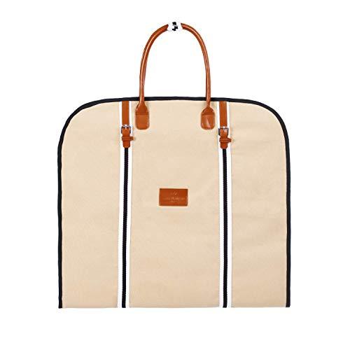 Saint Maniero Design Kleidersack I Anzugtasche I Anzughülle Kleidersack Kleiderhülle I Kleidersack atmungsaktiv I Kleidertasche Kleidersack lang Kleidersack Reise Anzugsack Anzugkoffer Sandfarben