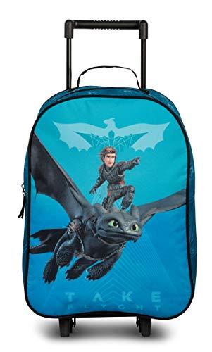 DreamWorks Dragons Kindertrolley Drachenzähmen leicht gemacht 3″, Blau/Schwarz, 29 x 43 x 12 cm, 20573-2400