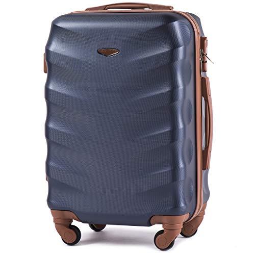 Leichter Flugzeugkoffer – VINCI LUGGAGE Geräumiger Kabinentrolley – Luxuriöser und moderner Koffer mit zweistufigen Teleskopgriff und Kombinationsschloss Blau, Xs