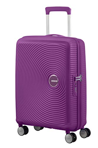 Spinner Small Expandable Koffer, 55 cm, 41 Liter, Purple Orchid – American Tourister Soundbox