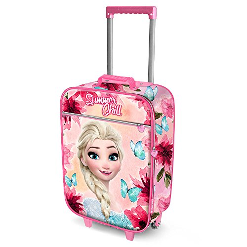 Karactermania Frozen Summer Chill-Soft 3D Trolley Suitcase Kindergepäck, 52 cm, 23 liters, Pink