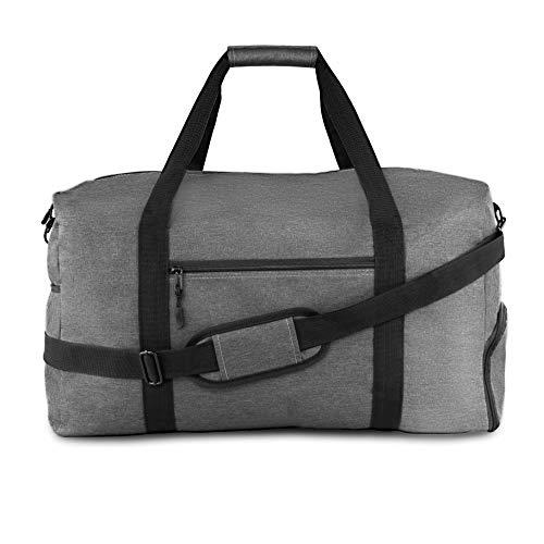 Winter & Co.´s stylische Sporttasche Reisetasche mit Schuhfach und Trinkflaschen-Halter   44 Liter Handgepäck   Hochwertige Canvas Weekender Tasche für Damen und Herren grau
