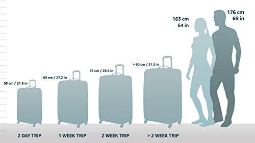 5 Cities Trolley Bag Handgepäck, 55 cm, 42 Liter, Schwarz / Marine