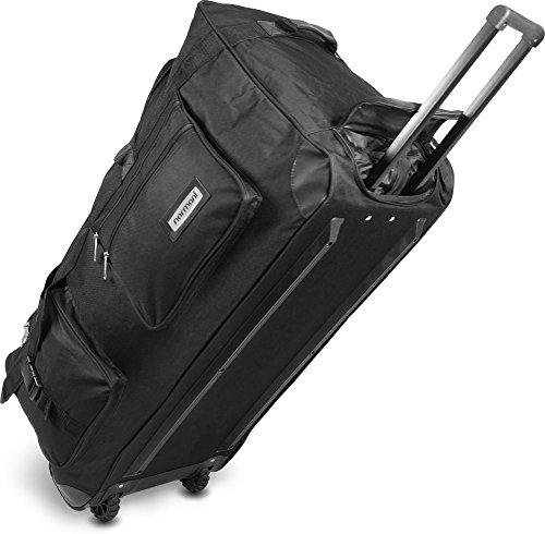 normani Reisetasche Jumbo Big-Travel 3 Rollen riesige 80 Liter XXL V4 5. Generation Schwarz Größe 150 l