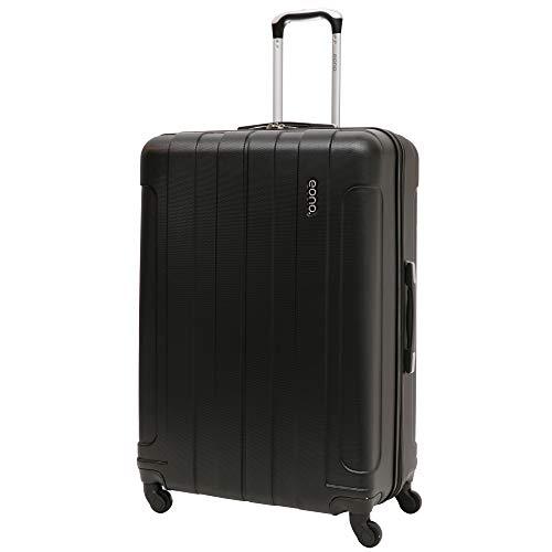 Amazon Marke: EONO Essentials Großer 81cm ABS Reisetrolley Halten Gepäck Koffer mit 4 Rädern, Schwarz