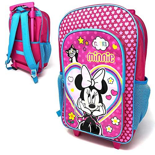 Kinder Minnie Mouse Figur Gepäck Luxus Rollen Trolley Rucksack Koffer Handgepäck Schultasche
