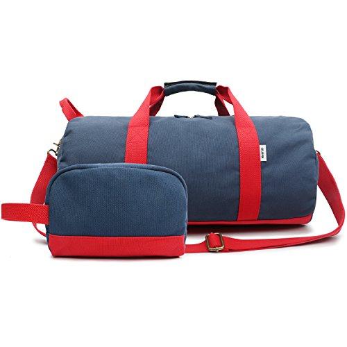 Sporttasche Segeltuch Trainingstasche – Travel Duffel Bag & Sports Gym Bag 1.0 Blau – Kleine Reisetasche für Männer und Damen