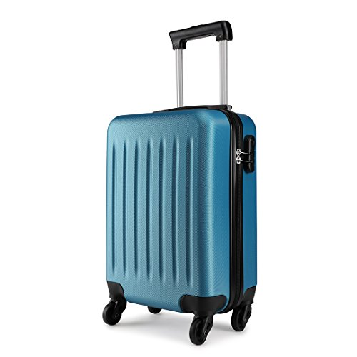 Kono Hartschale Koffer Trolley Rollkoffer Zwillingsrollen ABS Handgepäck Bordgepäck 4 Rollen, 48cm 20 Zolldunkelblau