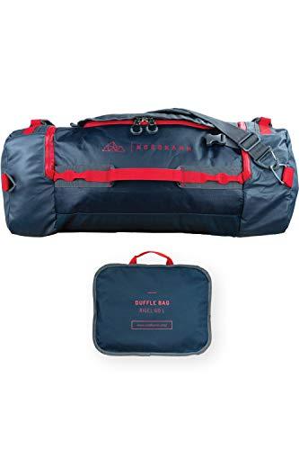 NORDKAMM – Reisetasche 60l mit Rucksack-Funktion, Duffle Bag, blau, faltbar, groß, für Damen und Herren, als Umhängetasche oder Rucksack