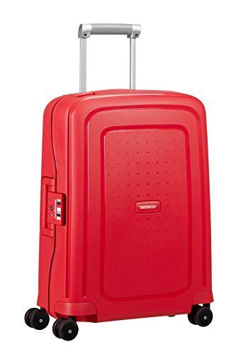 Spinner S Handgepäck, 55 cm, 34 L, rot capri red stripes – Samsonite S'Cure