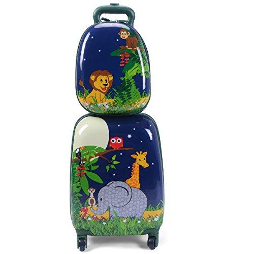 2tlg Kinderkoffer Set Rucksack Hartschalenkoffer Kindergepäck Reisegepäck Kindertrolley Modell 3