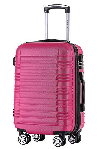 BEIBYE 2088 Zwillingsrollen Reisekoffer Koffer Trolleys Hartschale M-L-XL-Set Peach, L