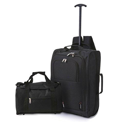 5 Cities 2er Set Ryanair Handgepäck Gepäck Rucksäcke und Tasche Trolley + Reisetasche