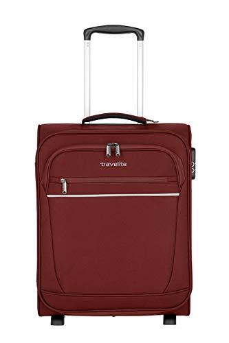 """praktische 2-Rad-Trolleys mit 2 geräumigen Vortaschen Koffer, 52 cm, 39 Liter, Bordeaux – Travelite Bordgepäck """"Cabin"""" von travelite"""