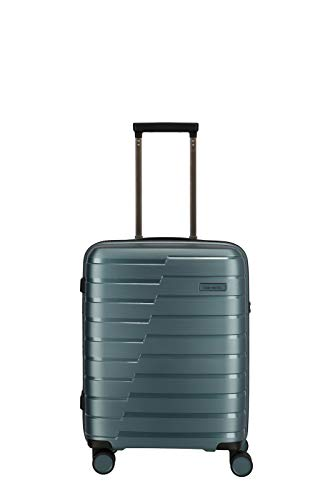 """Travelite Hartschalen-Koffer-Serie """"AIR BASE"""" von travelite in 2 Farben: unverwüstlich, funktional, cool Koffer, 55 cm, 37 L, Eisblau"""