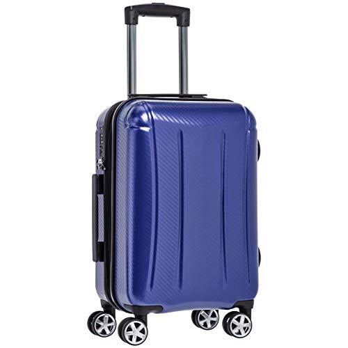 """AmazonBasics – Hochwertiger Hartschalen-Trolley """"Oxford"""", mit Schwenkrollen, 55 cm, Blau"""