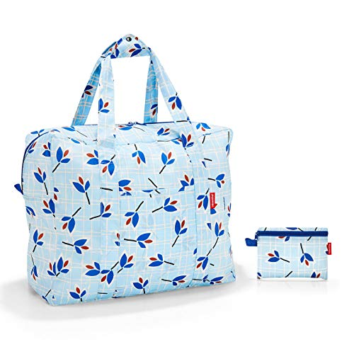 Reisenthel Mini Maxi touringbag Koffer, 48 cm, 40 Liter, Blue Leaves