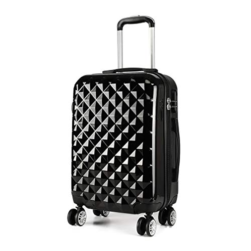 Kono Reise Koffer Trolley Rollkoffer 4 Rollen Zwillingsrollen Hartschalenkoffer Handgepäck M 55cm & 40 Liter ABS+PC