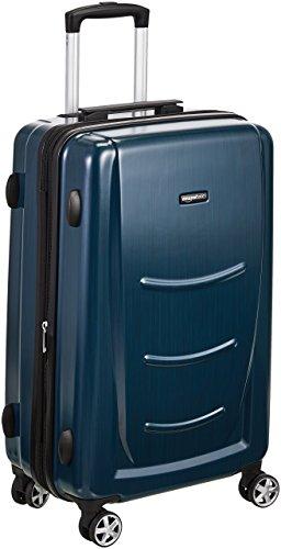 78 cm, Navy Blau – AmazonBasics Hartschalen-Trolley