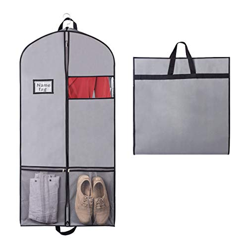 Syeeiex Atmungsaktive Aufbewahrung | Kleidersack Kleiderhülle Anzugsack für Kleid, Hemden mit Robust Reißverschluss 137cm x 60cm x 9cm