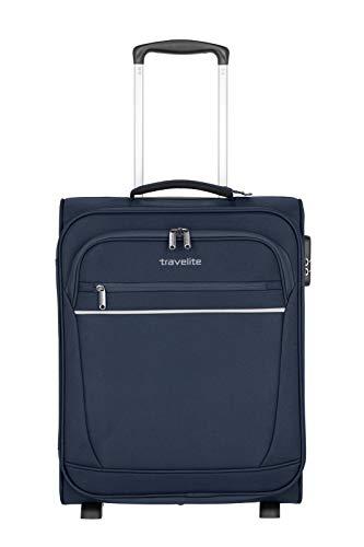 """Travelite Bordgepäck """"Cabin"""" von travelite – praktische 2-Rad-Trolleys mit 2 geräumigen Vortaschen Koffer, 52 cm, 39 Liter, Marine"""