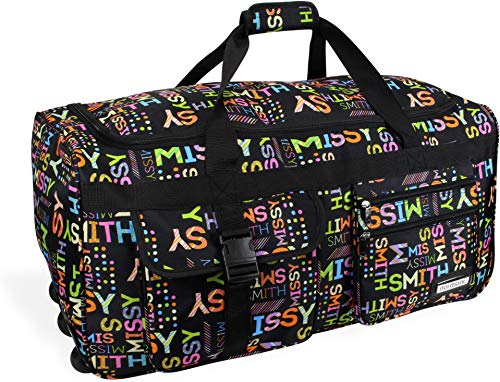 normani Reisetasche Jumbo Big-Travel mit Rollen riesige XXL Farbe Missy