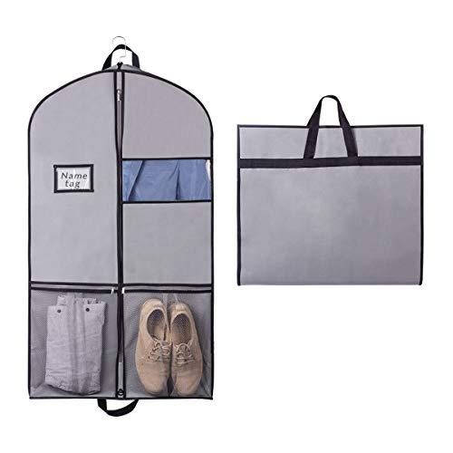 Syeeiex Atmungsaktive Aufbewahrung | Kleidersack Kleiderhülle Anzugsack für Kleid, Hemden mit Robust Reißverschluss 109cm x 60cm x 9cm