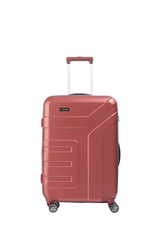 """Travelite Koffer-Serie """"VECTOR"""" von travelite: Robuste Hartschalen-Trolleys und Beautycases in 4 Trendfarben Kosmetikkoffer, 70 cm, 79 liters, Rot Koralle"""