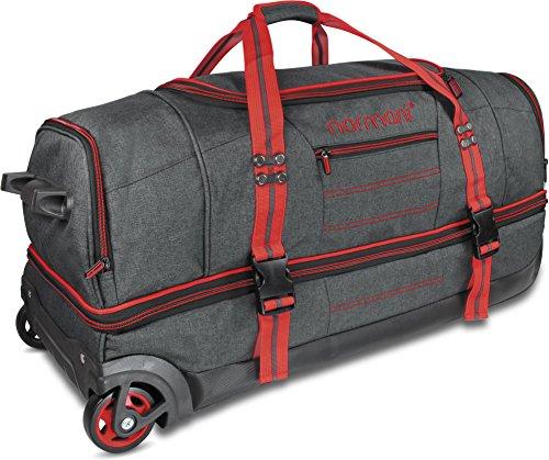 normani Reisetasche mit Rollen und großem Stauraum – mit Trolley-Funktion Farbe Red Größe 120 Liter