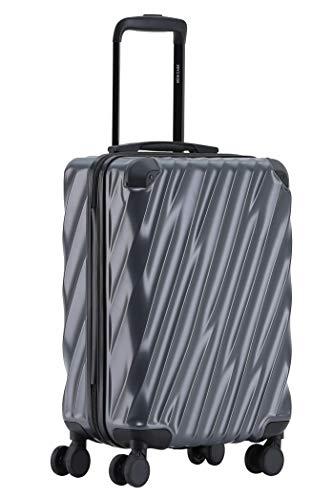 MÜNICASE TSA Schloß Handgepäck Trolley Koffer-Set Reisekoffer Businessgrau, M-55cm