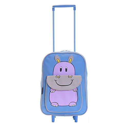 Karabar Tierwelt Freunde Kinder Trolley-Tasche Blau Hippo