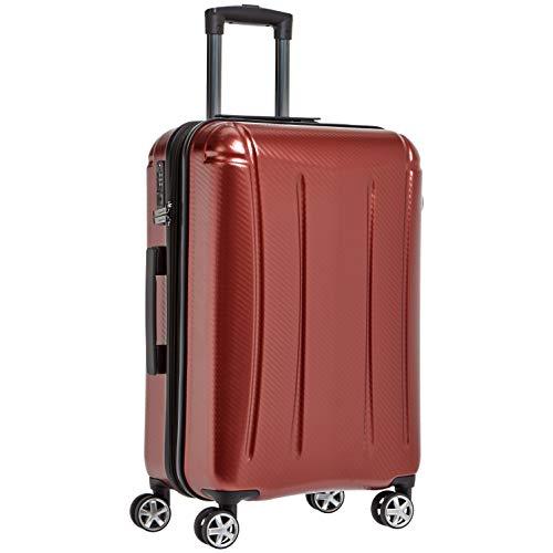 """AmazonBasics – Hochwertiger Hartschalen-Trolley """"Oxford"""", mit Schwenkrollen, 78 cm, Rot"""