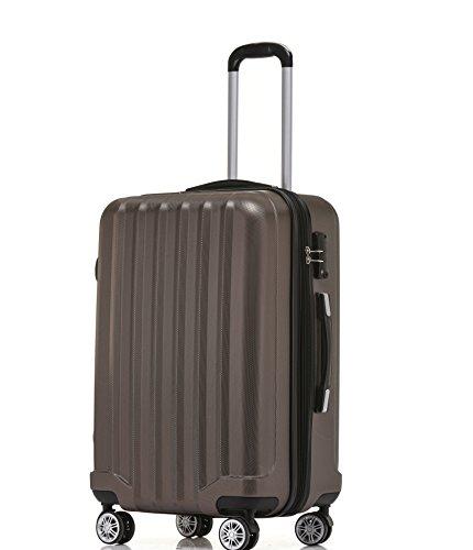 BEIBYE TSA-Schloß 2080 Hangepäck Zwillingsrollen neu Reisekoffer Koffer Trolley Hartschale Set-XL-L-MBoardcase Coffee, M
