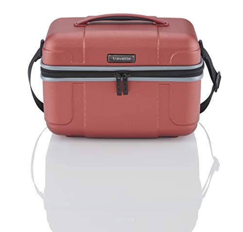 """Travelite Koffer-Serie """"VECTOR"""" von travelite: Robuste Hartschalen-Trolleys und Beautycases in 4 Trendfarben Kosmetikkoffer, 36 cm, 20 liters, Rot Koralle"""