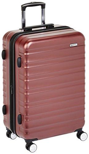 Hochwertiger Hartschalen-Trolley mit eingebautem TSA-Schloss, 68 cm, Rot – AmazonBasics