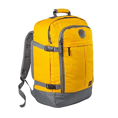 Hochwertiger Kabinenkoffer Vintage Gelb – Robuster & praktischer Backpack – Leichtgewicht Reiserucksack für das Flugzeug Bordgepäck 55x40x20 cm – Cabin Max Handgepäck Rucksack 44 Liter