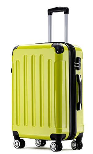BEIBYE Zwillingsrollen 2048 Hartschale Trolley Koffer Reisekoffer Taschen Gepäck in M-L-XL-Set Grün, XL