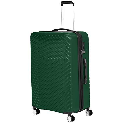 AmazonBasics – Trolley, mit geometrischem Muster, 78cm, Grün