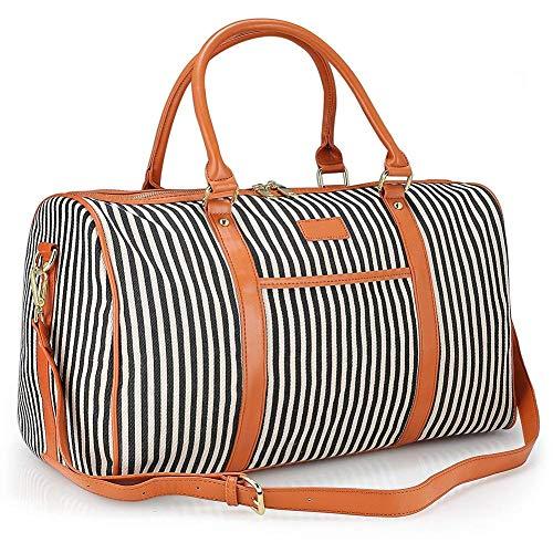 GENESS Große Reisetaschen, Leinwand über Nacht Wochenend Tasche, Unisex Handgepäck 30L Handtasche Sporttasche Segeltuch Wasserdicht Reisegepäck Schultertasche Umhängetasche Orange