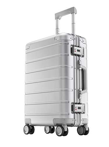 Xiaomi Mi Metal Carry-on Luggage 20″ 31 Liter Hartschalen Trolley Koffer Rollkoffer aus hochwertiger Aluminium/Magnesium Legierung mit 4 Rollen und zweifachem TSA-Zahlenschloss