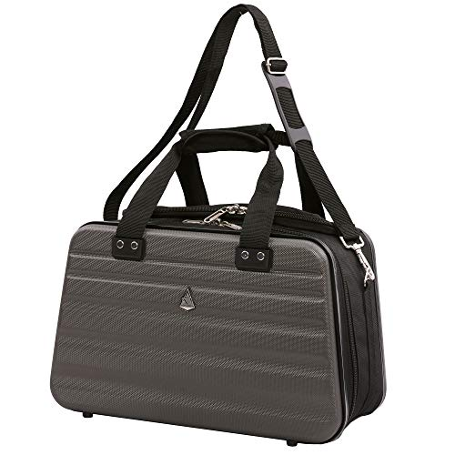 Aerolite Ryanair Maximale Größe 40x20x25cm Handgepäck Zugelassenes Hartschalen-Reisegepäck Schulter unter dem Sitz Flug Tasche 40x20x25 Holzkohle