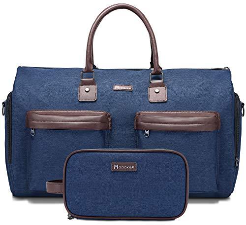 Kleidersack mit Schultergurt, Modoker Carry On Kleidung Duffel Bag für Männer und Frauen – 2 in 1 hängender Koffer Anzug Reisetaschen