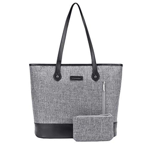 Umhängetasche/ Laptoptasche/Notebooktasche/Aktentasche/Handtasche für Damen, 39,6cm, leicht, aus Nylon, Stil: Klassisch, Casual, von UtoteBag